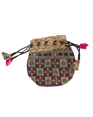Recycled Sari Patchwork Purse