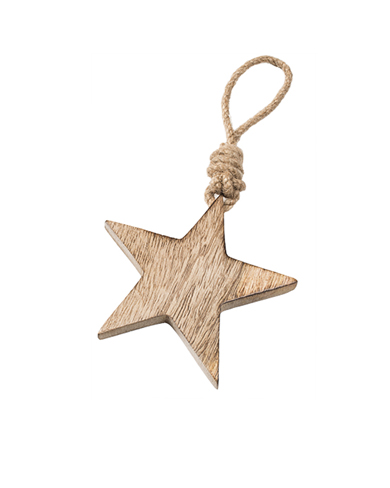 Fair Trade Wooden Hanging Star Decoration