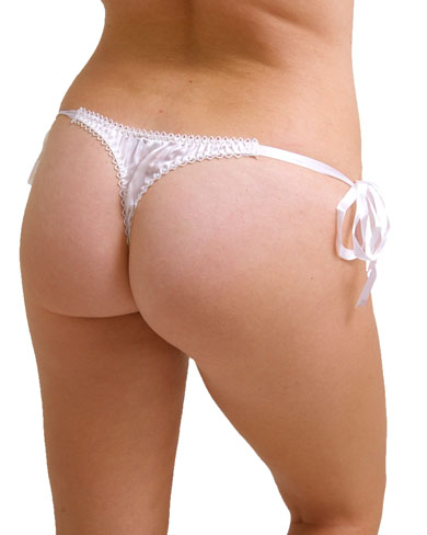 Silk Thong with Ribbon Tie