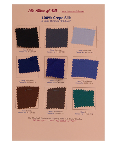Crepe Swatch Card