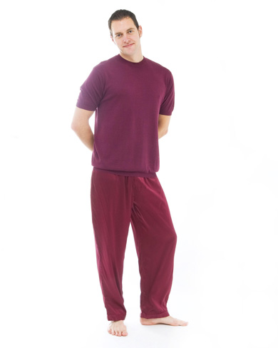 Silk T-Shirt and Pyjama Trousers Set
