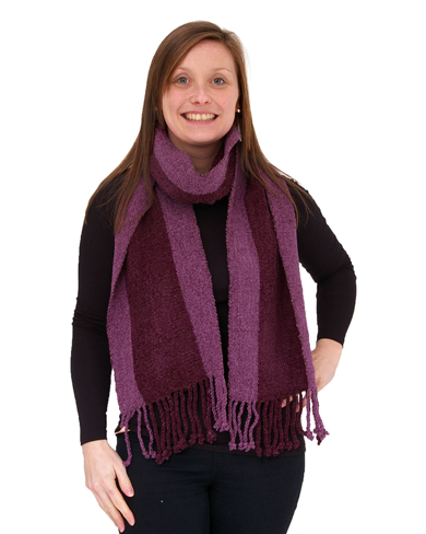 Hand Woven Bamboo and Cotton Scarf