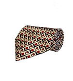 Christms Special - Red Blue and Cream Silk Tie