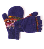 Hand Knitted Silk and Wool Hunter Gloves